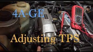 getlinkyoutube.com-Toyota 4AGE : How to adjust the TPS / Throttle Position Sensor (AE86)