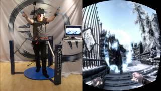 getlinkyoutube.com-Skyrim in VR - Cyberith Virtualizer + Oculus Rift + Wii Mote = Full Immersion