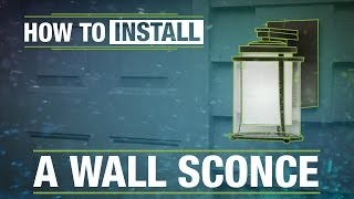 getlinkyoutube.com-How To Install: An Outdoor Wall Sconce