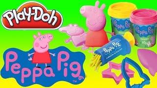 getlinkyoutube.com-Plastelina dla dzieci - Swinka Pig Peppa Pig Mega ciasta | Zabawki dla dzieci