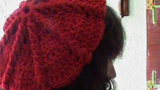 getlinkyoutube.com-2 DE 3 COMO TEJER GORRO BOINA MEDIANA GANCHILLO CROCHET