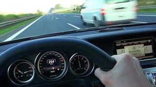 getlinkyoutube.com-Mercedes E63 AMG Onboard Acceleration Autobahn 250 kmh Drive + Kickdown W212 2014 4 Matic S