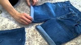getlinkyoutube.com-Как из старых джинс сделать шорты