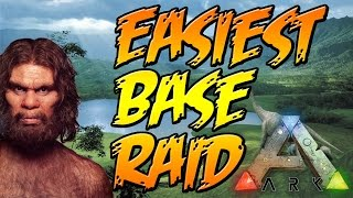 getlinkyoutube.com-Easiest Base Raid and Funny Moments in ARK Survival Evolved PVP