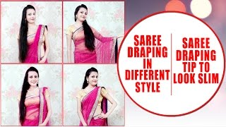 getlinkyoutube.com-Saree Draping in Different Style   Saree Draping Tips to Look Slim  KhoobSurati.com