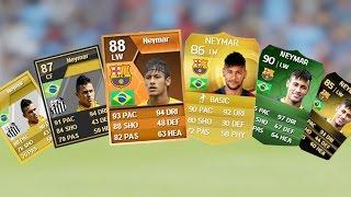 getlinkyoutube.com-Neymar Ultimate Team Cards from FIFA 12 to FIFA 15