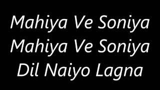 Atif Aslam's Mahiya Ve Soniya 's Lyrics   YouTube