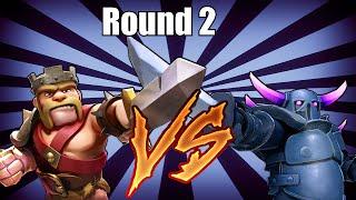 getlinkyoutube.com-Clash of clans PEKKA VS KING! Round 2 (Duel to the death!)
