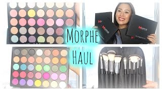 getlinkyoutube.com-Morphe Brushes Haul | 35E, 35U, 9B, 9BZ Palettes