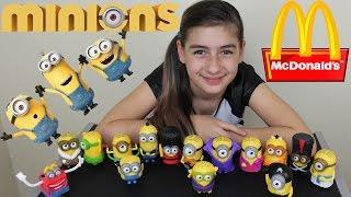 getlinkyoutube.com-Minions Mc Donalds Nova Coleção (Mc Lanche Feliz, Meu Malvado Favorito) Minions Toys Collection