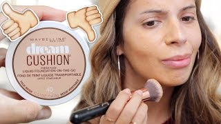 getlinkyoutube.com-NEW Maybelline Dream Cushion Foundation  FULL REVIEW