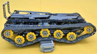 getlinkyoutube.com-Lego full suspended tracked vehicle with 2 speed gearbox