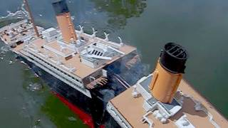 getlinkyoutube.com-[Model Titanic SPLITS #2] - High-Angle Breakup & Sinking