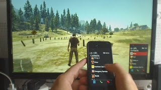 GTA V Iphone app for ingame phone control - Arduino project