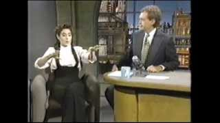 getlinkyoutube.com-Sean Young on The Late Show (1993)