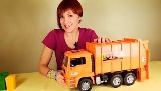 getlinkyoutube.com-Мусоровоз. Видео для детей. Большая Машина Bruder Gulliver Toys. Игрушки для детей