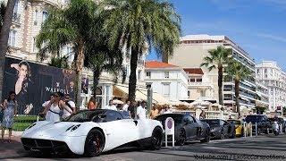 getlinkyoutube.com-Arab Supercar Invasion in Monaco and Cannes ! Ferrari F50, Pagani Huayra, DMC Aventador Roadster
