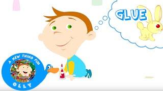 Early Learning - Olly discovers Glue