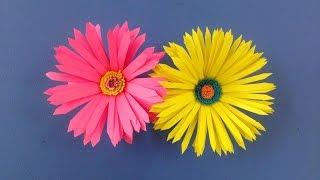 getlinkyoutube.com-How to make paper flower | Easy origami flowers for beginners making | DIY-Paper Crafts