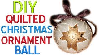 getlinkyoutube.com-DIY - How to make a Quilted Christmas Ornament Ball