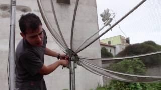 getlinkyoutube.com-Kit Carona (C3)B4 em antena parabólica de 2,30m, p
