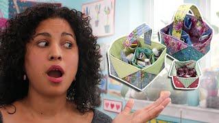 getlinkyoutube.com-Fabric Box & Basket - DIY Sewing Tutorial