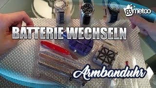 getlinkyoutube.com-Armbanduhr Batterie wechseln  - Anleitung für alle Uhrtypen / Verschlussdeckel