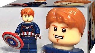 getlinkyoutube.com-sy 캡틴 아메리카 마블 어벤져스 리더 레고 짝퉁 미니피규어 Lego knockoff captain america 76042