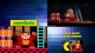 getlinkyoutube.com-Comparacion Pixels Movie Retro version