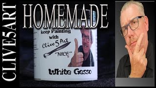 getlinkyoutube.com-Homemade Gesso, Acrylic painting for beginners,
