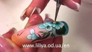 getlinkyoutube.com-Nail Art by Liliya Sereditskaya (Breath of spring)