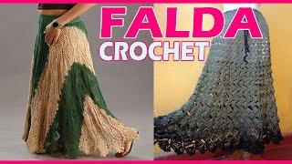 getlinkyoutube.com-Faldas Dama Tejidas a Crochet