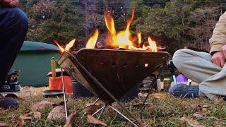 getlinkyoutube.com-冬キャンプ 月川荘キャンプ場でコラボ (焚き火料理編)
