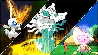 Pokemon X and Y: All Shiny-Locked Legendary Pokemon w/ Signature Moves!