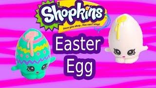 getlinkyoutube.com-Custom Shopkins Season 1 Pastel EASTER EGG Googy Painting DIY Craft Toy Cookieswirlc Video