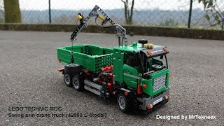 getlinkyoutube.com-LEGO Technic - Swing Arm Crane Truck (42008 Service Truck C-Model)