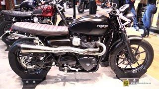 getlinkyoutube.com-2016 Triumph Street Twin - Walkaround - 2015 Salon de la Moto Paris