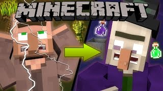 Why Lightning Turns Villagers into Witches - Minecraft