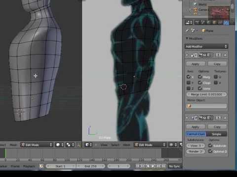 Blender Tutorial Character Modeling (2)
