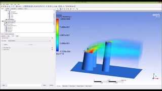 getlinkyoutube.com-Ansys CFX - Flow from a chimney Part 1/3
