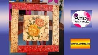 Crea un cuadro con texturas y servilletas