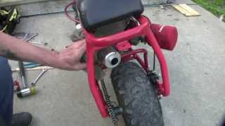getlinkyoutube.com-First test ride on racing Predator 212,  Doodle Bub mini bike