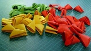 getlinkyoutube.com-3D Origami kleineres Modul Tutorial (Deutsch) - 3D origami little pieces tutorial
