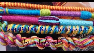 getlinkyoutube.com-LOOP DE DOO FRIENDSHIP BRACELET-How to make BLOCK STYLE