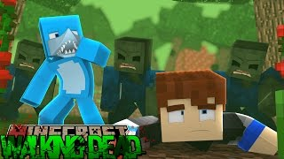 getlinkyoutube.com-Minecraft THE WALKING DEAD - ZOMBIES SET A TRAP FOR SHARKY???
