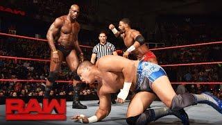 getlinkyoutube.com-Darren Young & Titus O'Neil vs. The Shining Stars: Raw, Aug. 15, 2016