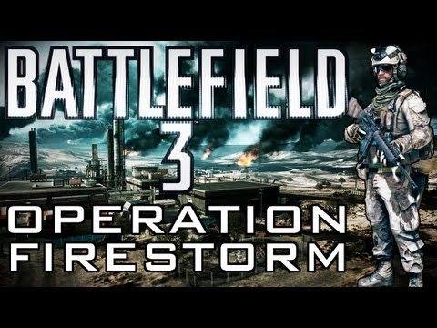 Battlefield 3 - Operation Firestorm A-10 kill with Tank (Gameplay & Commentary)