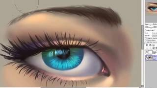 getlinkyoutube.com-How to Draw an Eye tutorial Paint Tool Sai