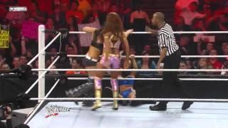 getlinkyoutube.com-WWE Raw 02/21/11 - The Bella Twins vs. Eve & Gail Kim