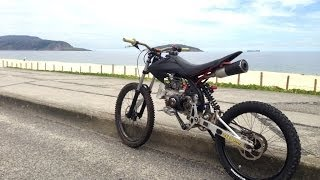 getlinkyoutube.com-Motoped on the beach !!  Engine Power Output!